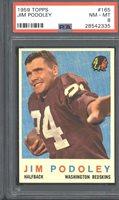 1959 Topps #165 Jim Podoley PSA 8