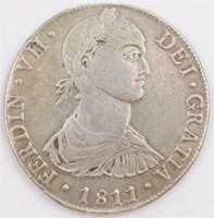 1811 Peru 8 Reales silver coin Lima JP KM#106.2 EF