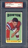 1965 Topps Football Billy Neighbors #15 PSA 8