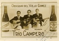 1940s Cuba Trio Campero Signed Photo