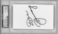 Don January Signed Authentic Autographed 3x5 Index Card Slabbed PSA/DNA#83717974