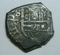 PHILIP III 1 REAL COB SEVILLA SPAIN ASSAYER G SPANISH COLONIAL SILVER