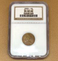 1903 Indian Head Cent NGC MS65 BN *Rev Tye's* #5005150