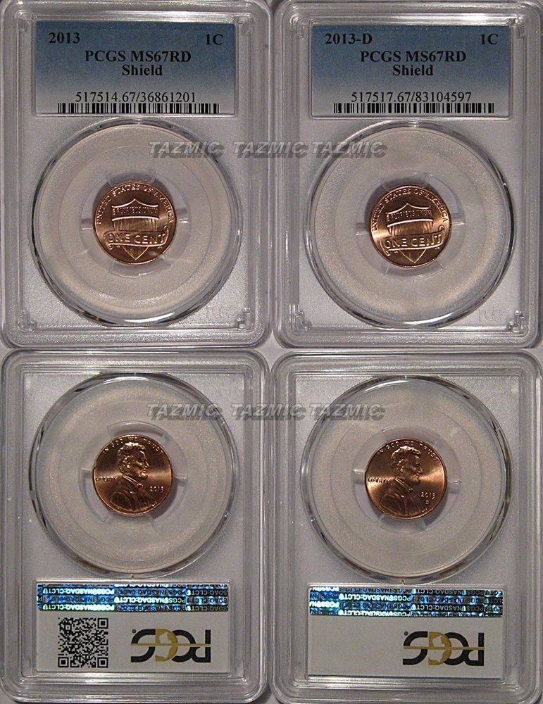 2014 D Lincoln SHIELD Cent 1c PCGS MS67RD
