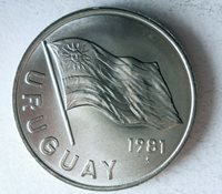 1981 URUGUAY 5 PESOS - AU/UNC - Collectible Coin - FREE SHIP - BIN PPP