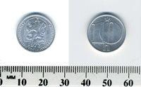 Czechoslovakia 1977 - 10 Haleru Aluminum Coin - Czech lion with socialist shield