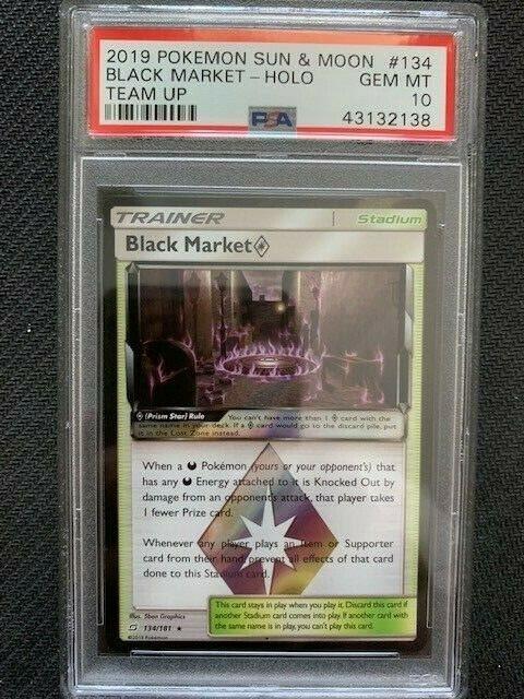 PSA 10 Gem Mint - BLACK MARKET PRISM STAR HOLO - Pokemon: Team Up #134