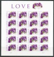 """Scott 4450, VF NH, 2010 pane of 20 """"Love"""""""