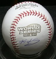 Kevin Youkilis 2004 World Series Autographed Baseball