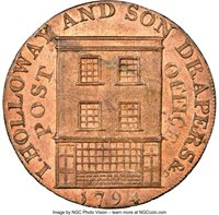 Great Britain: Somerset. Bridgewater copper 1/2 Penny Token 1794 MS64 Red and Brown NGC,...
