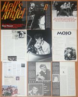 GENE VINCENT clippings 1960s/90s magazine articles photos Rock'N'Roll music