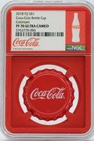 2018 Coca-Cola Bottle Cap 6g Silver Coin NGC PF70 Fiji OGP Coke $1 Proof - JD607