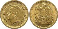 Pièce Monaco 2 Francs Louis II - Armoiries - ND (1945)