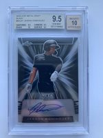 2019 Leaf Metal JASSON DOMINGUEZ Black Prism RC Auto 3/15 YANKEES BGS 9.5 TG+
