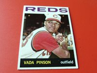 1964 TOPPS VADA PINSON # 80 REDS BASEBALL NM / MINT+ OR BETTER !!