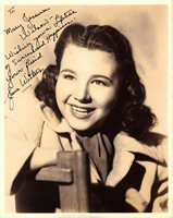 JANE WITHERS AUTOGRAPHED SIGNED 1940's VINTAGE 8X10 PHOTO CHILD ACTRESS STAR