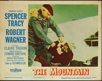 THE MOUNTAIN orig1956 lobby poster SPENCER TRACY/ROBERT WAGNER/MOUNTAIN CLIMBING