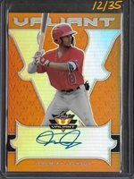 2018 Leaf Valiant JEREMIAH JACKSON Orange Prismatic Auto RC 12/35 Angels