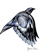 BIRD ABSTRACT ART ORIGINAL FINE ART 4 BY COMIC BOOK ARTIST JAMES CHEN