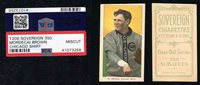 1909-11 T206 SOVEREIGN 350 MORDECAI BROWN CHICAGO SHIRT PSA 0 MISCUT