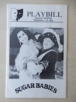 February 11th, 1983 - Palace Theatre Playbill w/Ticket - Sugar Babies - Rooney