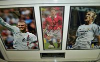 David Beckham signed presentation with large signature
