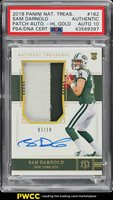 2018 National Treasures Gold Sam Darnold ROOKIE AUTO PATCH /10 PSA Auth (PWCC)