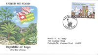 FDC 2001 SEPTEMBER 11th COALITION OF FORCES COMMEMORATIVE COVERS- TOGO REPUBLIC