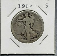 1918 S Walking Livery Silver Eagle Half Dollar Coin Choice AG ABOUT GOOD
