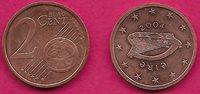 IRELAND 2 EURO CENTS 2004 AU HARP,DENOMINATION AND GLOBE