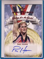 2013 LEAF SPORTS HEROES GOING FOR THE GOLD PAUL HAMM #01/05 AUTO AUTOGRAPH