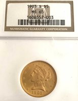 1903-S NGC MS65 U.S. $5.00 LIBERTY HEAD GOLD PIECE