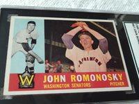1960 TOPPS # 87 JOHN ROMONOSKY SGC 84 WASHINGTON SENATORS BASEBALL