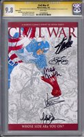 Civil War #7 Stan Lee Quesada Millar Turner Vines Steigerwald Sig Series CGC 9.8