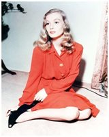 VERONICA LAKE beautiful 8x10 color portrait still -- f451