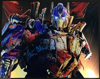 PETER CULLEN OPTIMUS PRIME SIGNED 11X14 TRANSFORMERS PHOTO BECKETT COA 499