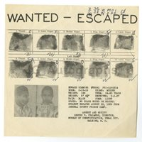 Wanted Notice - Edward Simmons/Escaped Convict - Raleigh, North Carolina