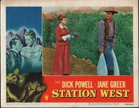STATION WEST orig 1948 lobby card DICK POWELL/AGNES MOOREHEAD 11x14 movie poster