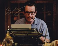 Bryan Cranston In-person Autographed Photo Great color photo from Trumbo autographed by this Golden Globe winning American actor best known for his roles in Breaking Bad, Malcolm in the Middle, Trumbo, Godzilla, Cold Comes the Night, Argo, Total Recall, Rock of Ages, John Carter, Contagion, Larry Crowne, Drive and Illusion.