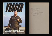 CHUCK YEAGER Autographed Signed Book X 1 Sound Barrier Muroc Field Rogers Dry