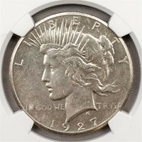 1927 Peace Dollar - NGC UNC Details / Harshly Cleaned - $1 Silver