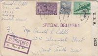 1942, C.P.N.A.B. Area #3, Honolulu, HI to Ft. Worth, TX, See Remark (C3355)