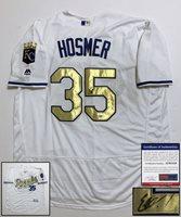 Kansas City Royals Eric Hosmer Signed Jersey 2015 World Series Champs PSA/DNA CO