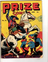 Prize Comics # 42 VG Golden Age Comic Book Horse Western Super-Heroes JL17