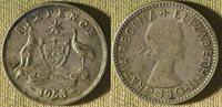 Australia : 1953(m) Sixpence XF Toning . #52 IR9577