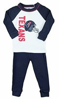 Houston Texans NFL Infant Baby Thermal Sleepwear Pajama Set, Navy