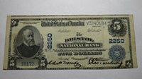 $5 1902 Bristol Connecticut CT National Currency Bank Note Bill! Ch. #2250 VF++