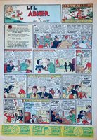Li'l Abner by Al Capp - large full tab page color Sunday comic, October 23, 1938