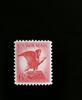 1963 6c Bald Eagle, U.S. Air Mail Scott C67 Mint F/VF NH