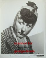 JUDITH ANDERSON - 8X10 - VTG - INSCRIBED - AND THEN THERE WERE NONE - AA NOM
